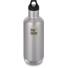 Klean Kanteen Classic Vacuum Insulated Bottle Loop Cap 946ml Brushed Stainless